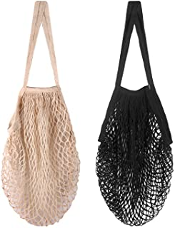 Reusable Produce Bags, Kmeivol 2 Pack Produce Bags, Washable Produce Bags Grocery Reusable, Organic Cotton Mesh Produce Ba...