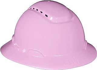 3M Full Brim Hard Hat H-813V, Pink, 4-Point Ratchet Suspension, Vented