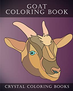 Goat Coloring Book: 30 Simple Goat Face Line Drawing Coloring Pages (Animal) (Volume 6)