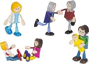 Melissa & Doug Wooden Flexible Figures- Family Dolls for Dollhouses