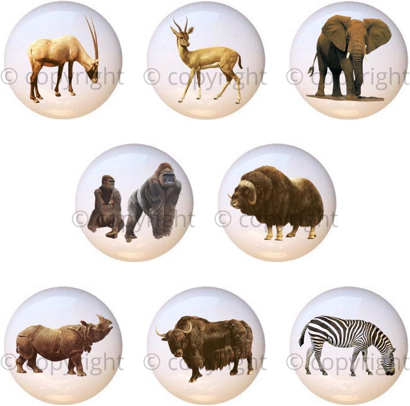 Department store Set of 8 - African Wildlife Drawer Realistic Safari Pu San Jose Mall Animals