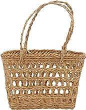 TOPBATHY 2pcs Woven Storage Basket with Handles Wicker Rattan Flower Basket Laundry Basket Rustic Decorative Flower Basket...