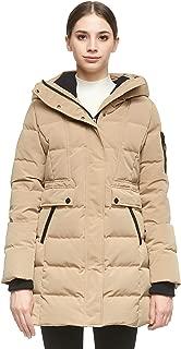 Orolay Women's Mid Length Hood Down Jacket Warm Winter Coat
