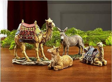 Set of 4 Christmas Nativity Animals Set - 7 inch Scale