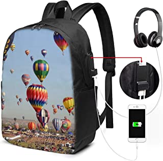 Mochila para ordenador portátil para hombres y mujeres de 17 pulgadas, USB resistente al agua, mochila informal, para trabajo, viajes, escuela, negocios, viaje de negocios, viaje de negocios