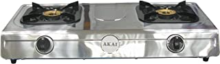Akai Table Top Cooker 2 GAS BURNER, Stainless Steel - TTMA-2B