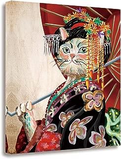 GEVES Cat Kimono Geisha Japanese Wall Art 16