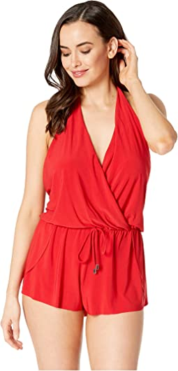 Solid Bianca Romper One-Piece