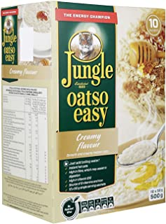 Jungle Oatso Easy Creamy Flavour Cereals, 50 g (Pack of 10)