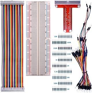 Kuman Raspberry Piに適用 Raspberry Pi キット 830MB-102接続点はんだなしブレッドボード+GPIO T型拡張ボード+虹リボンケーブル+65*ジャンパケーブルワイヤー 学校研究 実験セット Raspberry Pi 3 2 model B A A+ + に対応 Raspberry Pi 電子工作入門キット K73