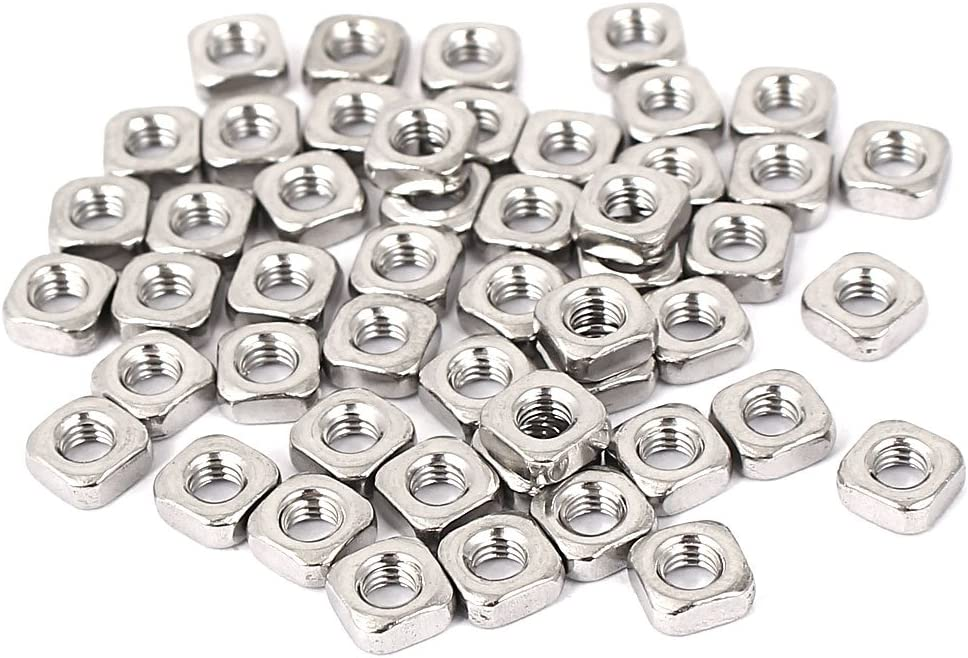 uxcell NEW before selling ☆ Free Shipping New Square Nuts M3x5.4x2.4mm Steel 304 Stainless Machi