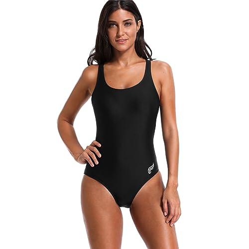 ATTRACO Women One Piece Sports Swimming Costume Athletic Swimsuit Racerback  Swimwear e0a4ba7c4