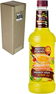 Master of Mixes Whiskey Sour Drink Mix, Ready To Use, 1 Liter Bottle (33.8 Fl Oz), Individually Boxed
