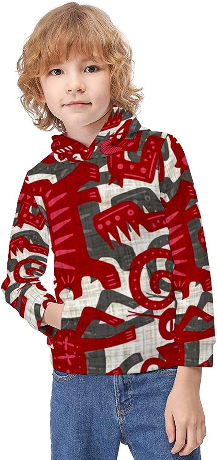 Boys Girls Soft Long Sleeve Outdoor Outfit Printed Athletic Pullover for Kids