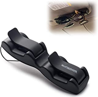 Superior Essentials Double Sunglasses-Glasses Holder for Sun Visor/Air Vent - Conveniently Holds 2 Pairs of Sunglasses