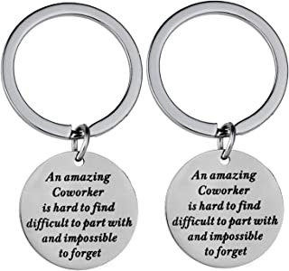 Nzztont Pack of 2 Coworker Leaving Gift New Job Keychain Funny Goodbye Leaving Job Gift for Employees Colleague