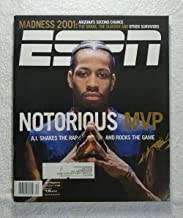 Allen Iverson - Philadelphia 76ers - Notorious MVP: A.I. Shakes the Rap & Rocks the Game - ESPN Magazine - March 19, 2001