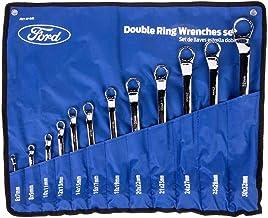Ford Tools Heavy Duty Chrome Vanadium Double Ring Metric Spanner Set, FHT-EI-081, 12 Pieces