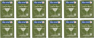 Red Star Cote des Blancs Wine Yeast - Pack of 12 - with North Mountain Supply Freshness Guarantee
