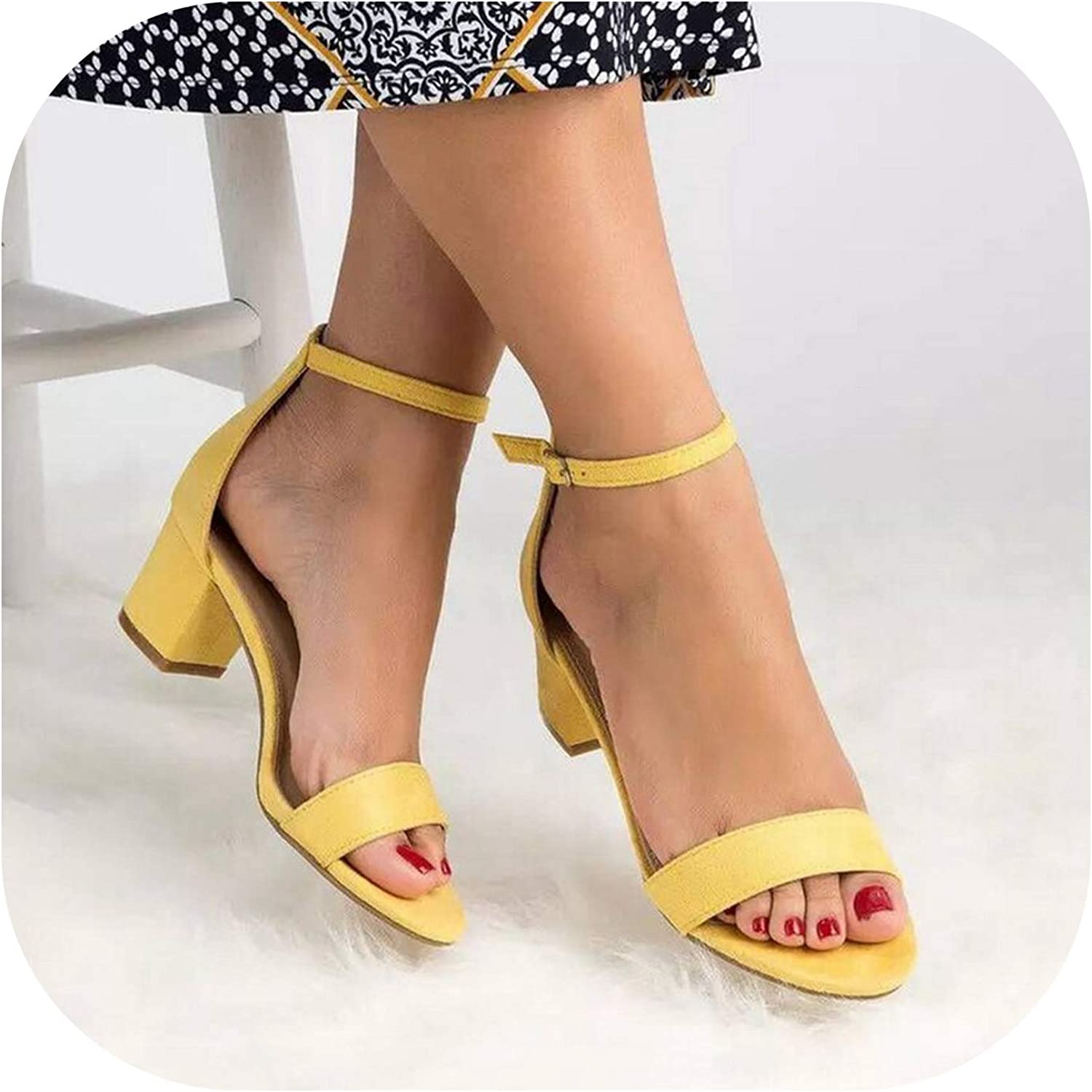 Ankle Strap Heels Sandals Leopard Print Women Open Toe Chunky High Heels Dress Sandals