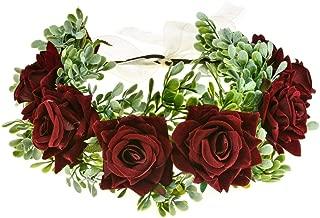 Vividsun Flower Crown Floral Headpiece Festival Wedding Hair Wreath Floral Crown