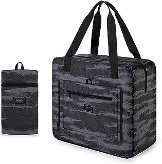Gonex 33L Faltbare Tasche Einkaufstasche Sporttasche Wasserabweisendes Nylon für Reisen Sport Gym Camping Shopper Damen Herren - Grau Marmor