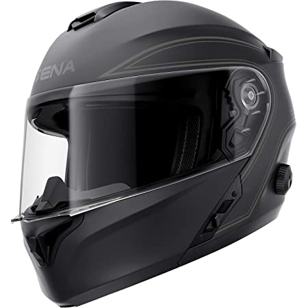 Sena Outrush Modular Smart Helmet (Matte Black, Large)