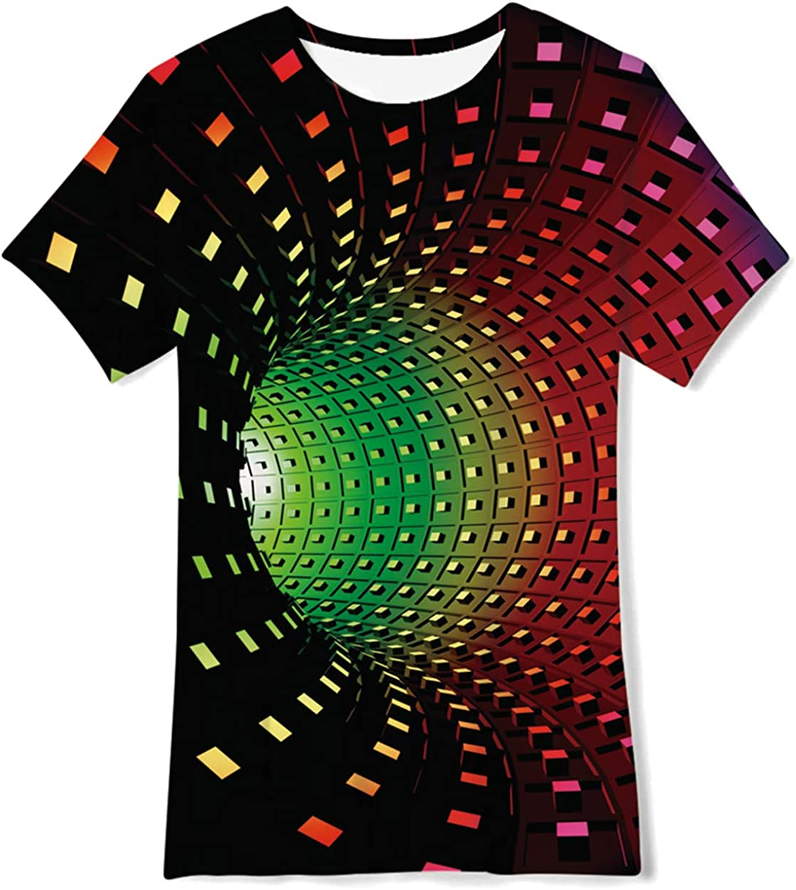 uideazone Boys Girls 3D Graphic Printed T-Shirt Crewneck Short Sleeve Tees 6-14 Years