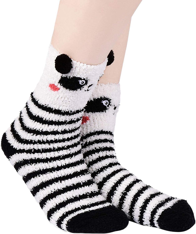 Teen Girls Lovely Cartoon Animal Socks Winter Elastic Max 85% OFF Warm Special price Crew