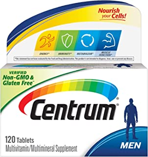 Centrum Multivitamin for Men, Multivitamin/Multimineral Supplement with Vitamin D3, B Vitamins and Antioxidants - 120 Count