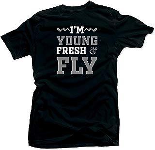 Tee Shirt Match Jordan 4 Cool Grey Sneakers-Young & Fly Black Tee