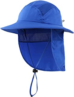 Home Prefer UPF 50+ Boys Sun Hat with Neck Flap Summer...