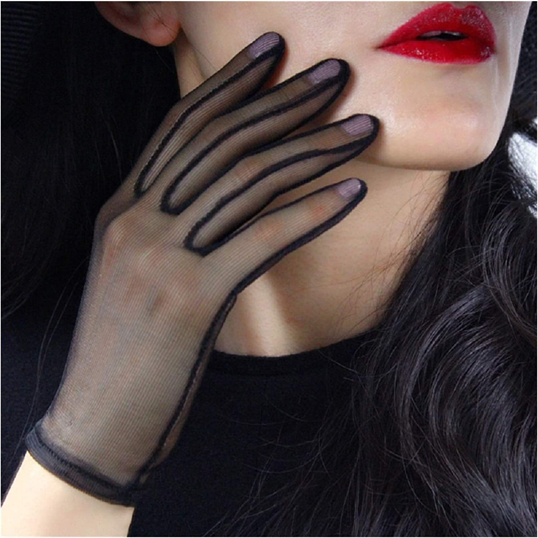 YSJJSQZ Lace Gloves Women Black Gauze Short A surprise price Deluxe is realized Ult Silk Mesh