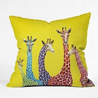 Deny Designs Clara Nilles Jellybean Giraffes Throw Pillow, 20 x 20