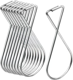 Ceiling Hook Clips Hanger Hooks for Classroom - (70 Pack) Grid Ceiling Hanging Figure 8 Hooks T-Bar Squeeze Hanger Clips for Office Home Decorations by Esfun