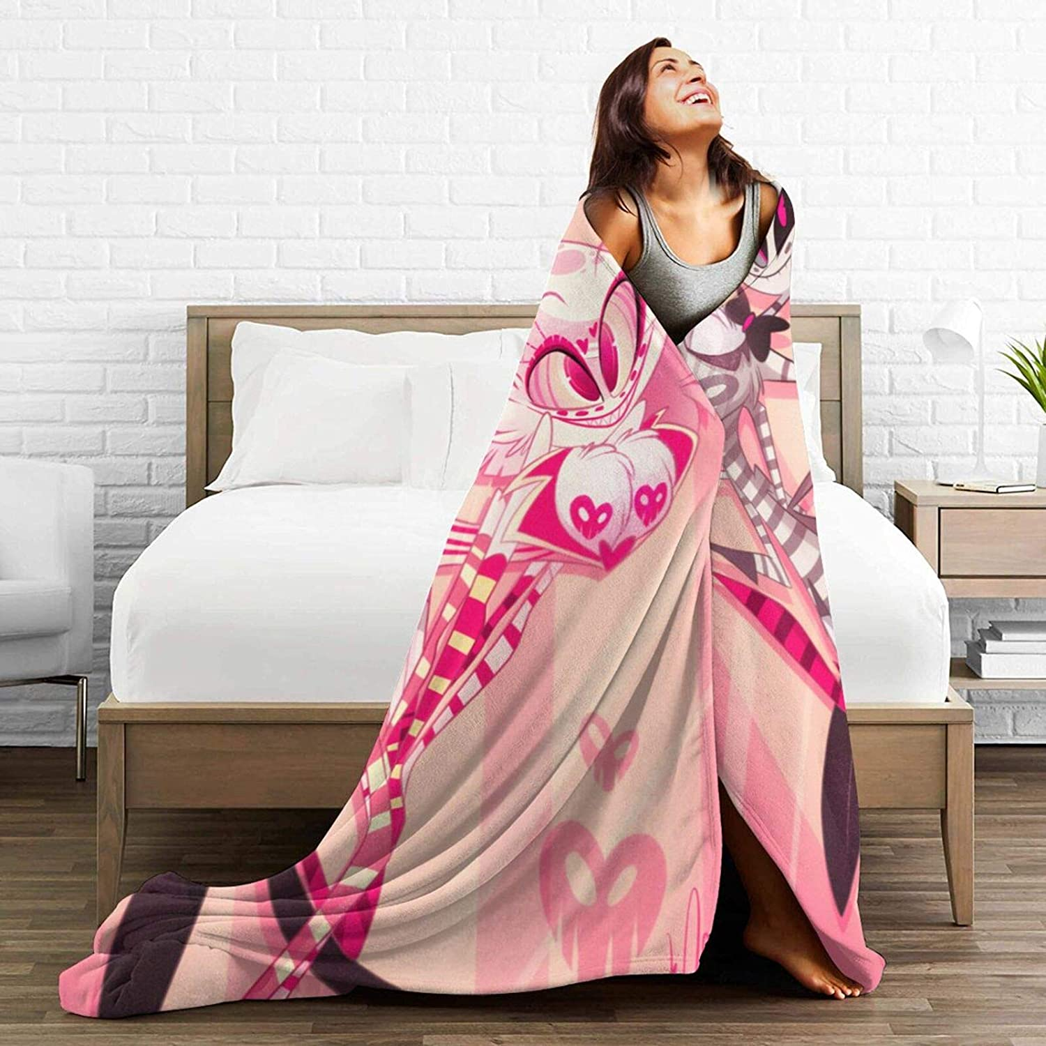 Nagaraja Hazbin Hotel Blanket Super Soft and Comfortable Plush Flannel Suitable for Sofa Living Room Decoration Bed Use in All Seasons 50x40 Inch for Child