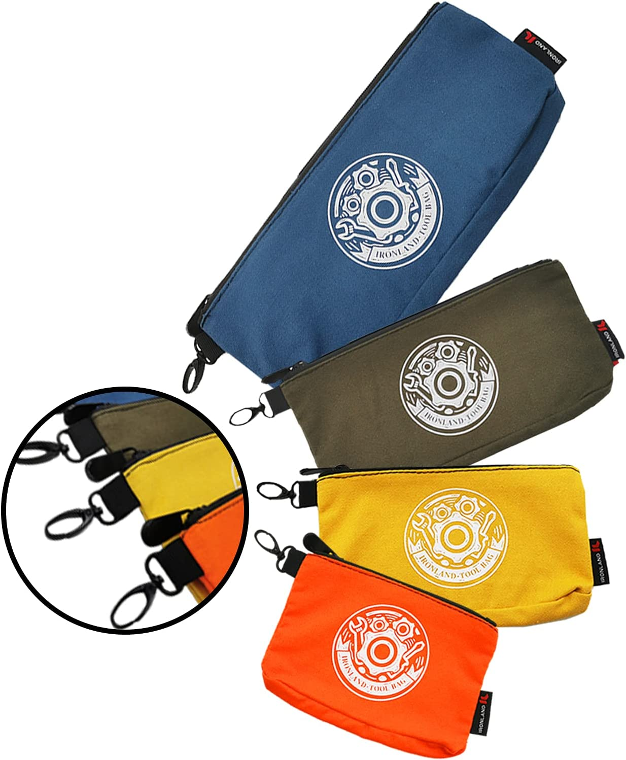 IRONLAND Canvas Tool Bags pouch With Bag Small Ranking TOP11 Zipper Oakland Mall