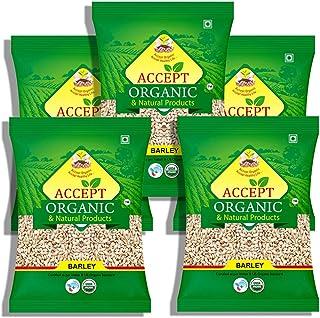 Accept Organic Barley Whole / Jau 1 KG Pack of 5 Healthy & Organic Grain