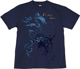 [GENJU] Tシャツ ドラゴン トライバル 竜 アメカジ 背面無地版 メンズ