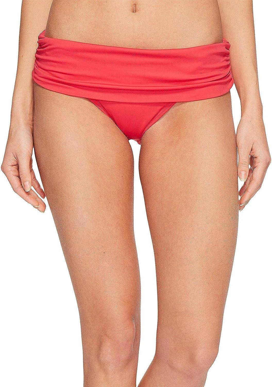 LAUREN RALPH LAUREN Womens Fold-Over Wide-Band Bikini Swim Bottom