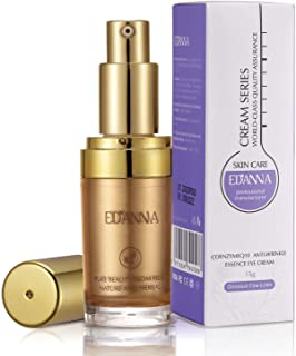EDANNA Eye Cream Serum with Vitamin E 丨CoenzymeQ10 丨Anti-wrinkle Essence丨 Reduce Dark Circles Puffiness Fine Lines,0.53 Oz