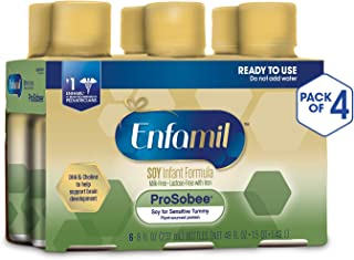 Enfamil ProSobee Soy Sensitive Baby Formula, Dairy-Free Lactose Free Plant Protein Milk Powder, 8  fluid ounce (24 count) - Omega 3 DHA, Iron, Immune & Brain Support