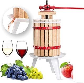 Prensa de frutas Prensa de jugo de 6 litros Prensa de aceite para trituradora con prensa de tela para mosto, vino y manzanas