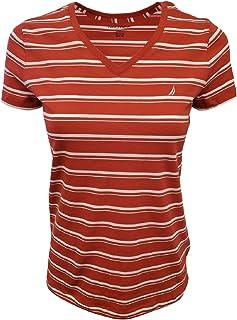 Nautica Women's Striped V-Neck T-Shirt