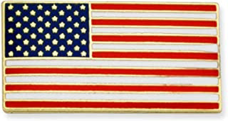 Official Rectangle Patriotic American Flag USA Lapel Pin 3/4