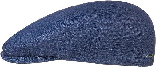 Stetson Just Linen Pet Heren - Made in the EU zomer cap linnen flat hat met klep voering voor Lente/Zomer