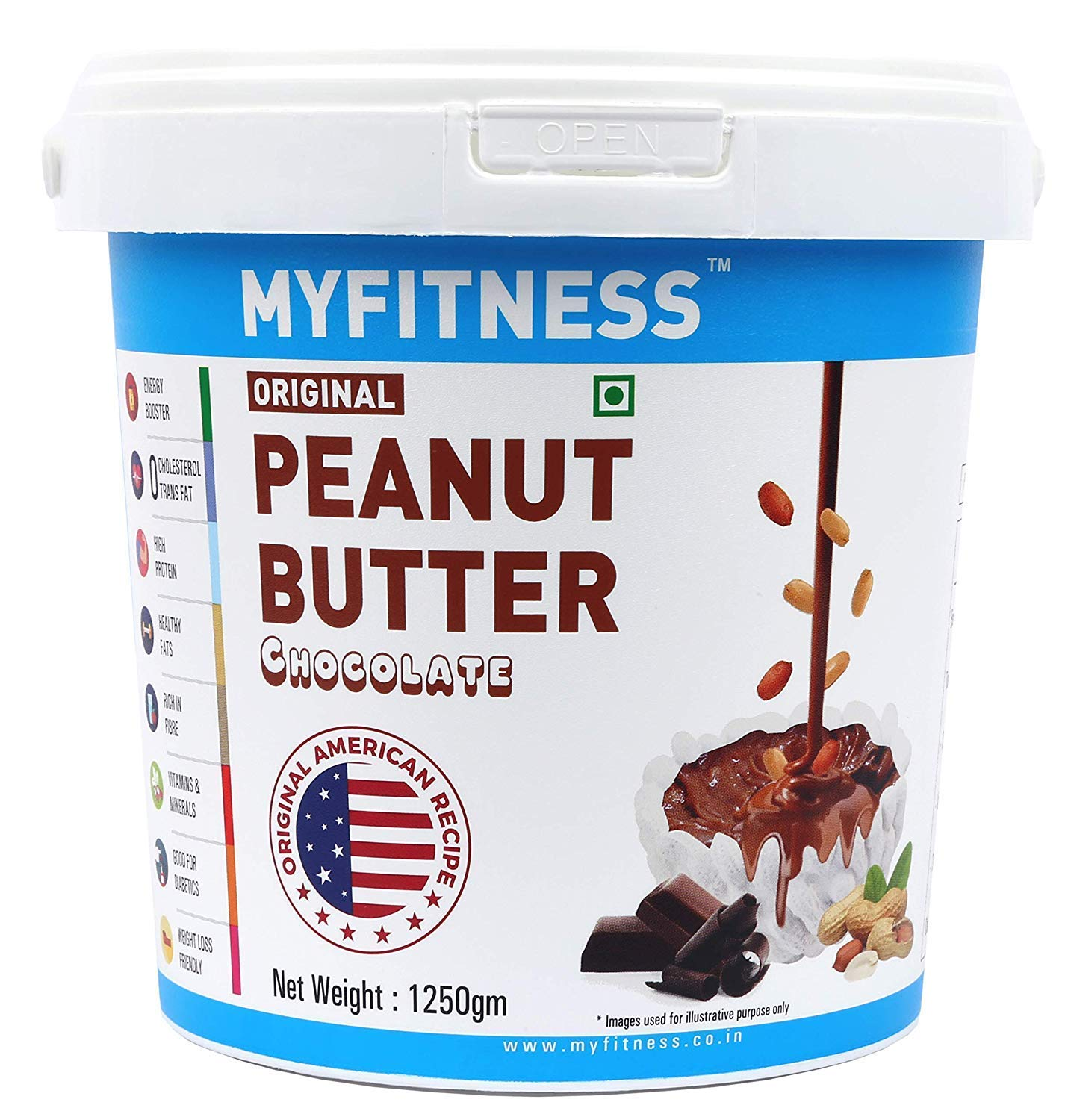 MYFITNESS Chocolate Peanut Butter Unit Spring new work one after another 1250g Single Spasm price