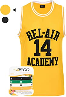 AFLGO Bel Air #14 Fresh Prince Academy Hip Hop 90'S Basketball Stitched Jersey