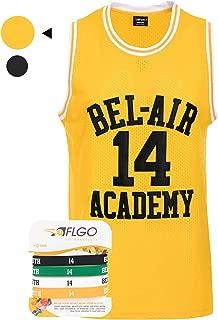 AFLGO Fresh Prince of Bel Air #14 Smith Basketball Jersey Bonus Wristbands