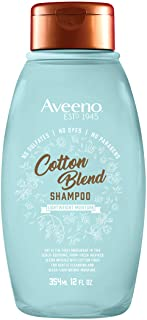 AVEENO Aveeno Cotton Blend Sulfate-free Shampoo for Light Moisture & Soothed Scalp, Gentle Cleansing Shampoo With Nourishi...